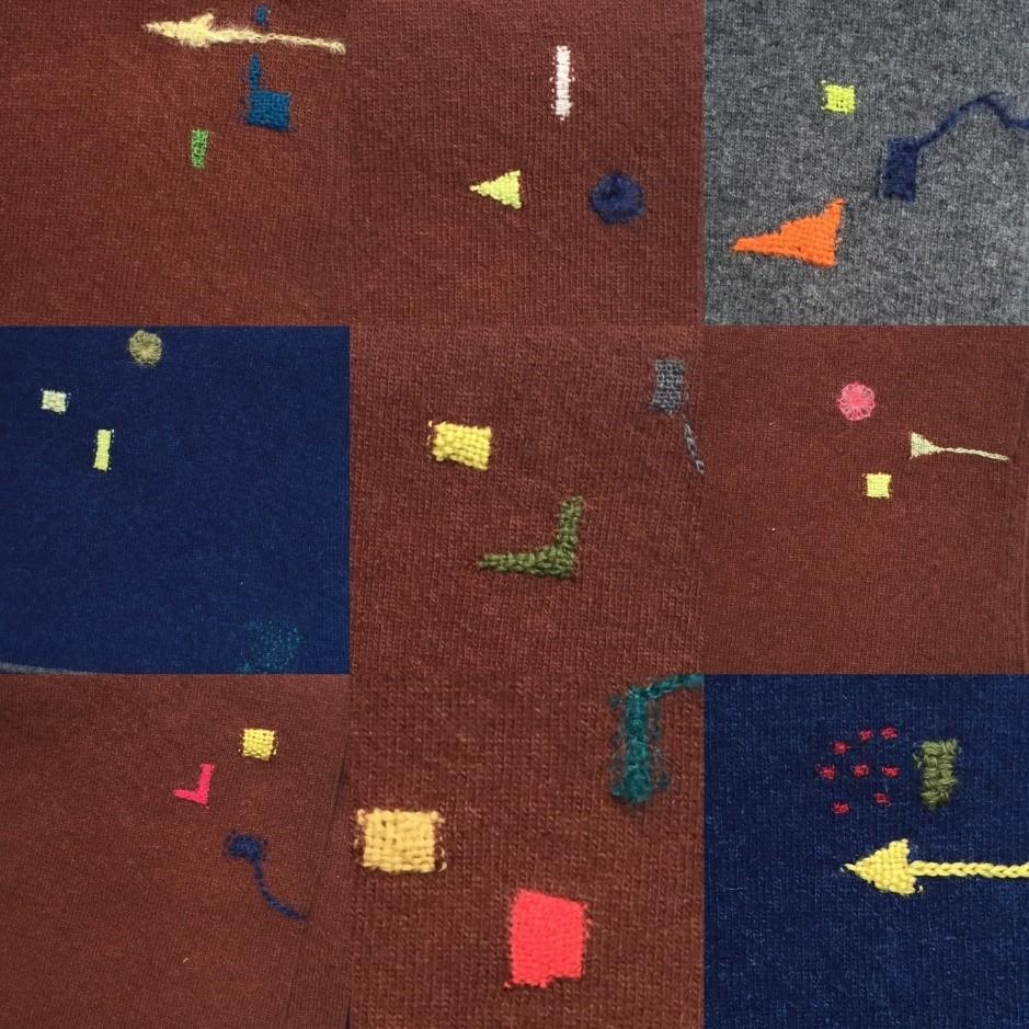 ダーニング:基礎のゴマシオダーニングと四角のダーニング